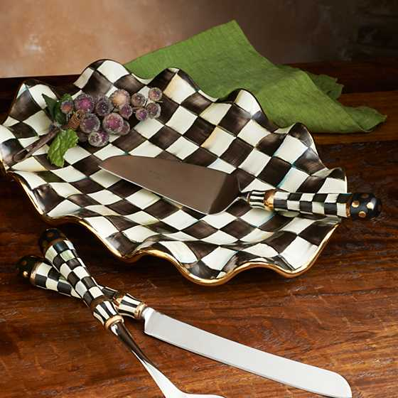 Courtly Check Serving Platter image two