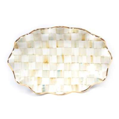 Parchment Check Serving Platter
