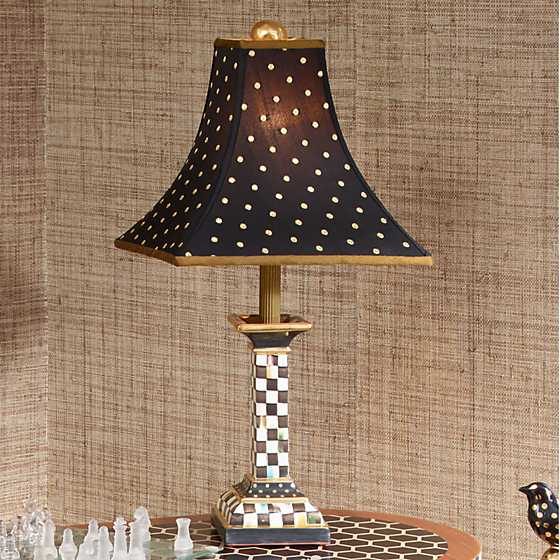 Courtly Check Candlestick Lamp image four
