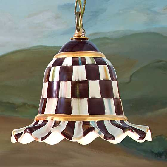 Courtly Check Pendant Lamp - Small image two