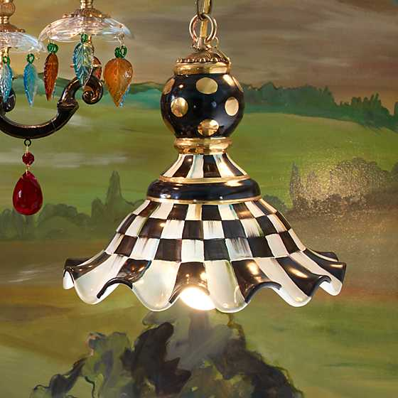 Courtly Check Pendant Lamp - Medium image three