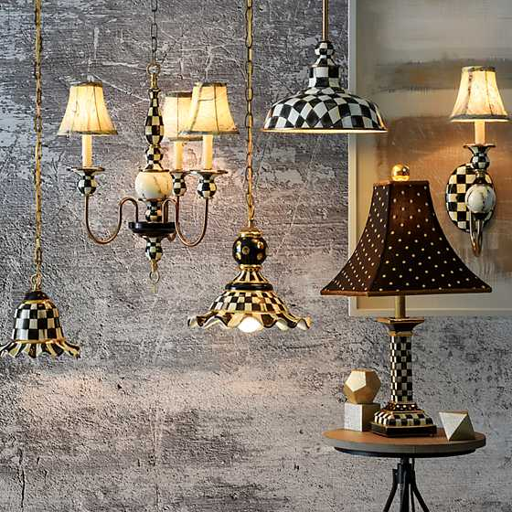 Courtly Check Pendant Lamp - Medium image four