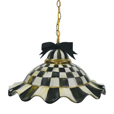 Image for Fluted Hanging Lamp - Courtly Check
