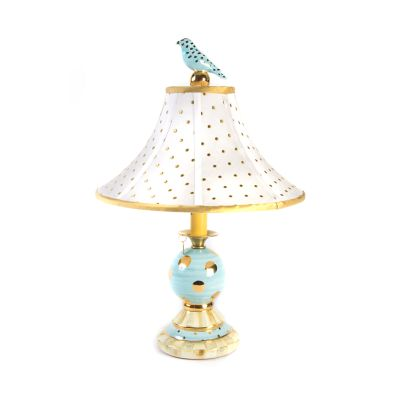 Parchment Check Bulbous Lamp