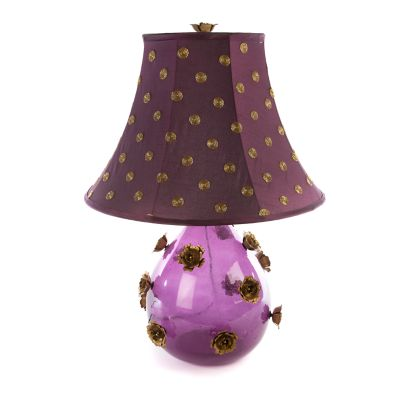 Amethyst Rose Lamp - Large