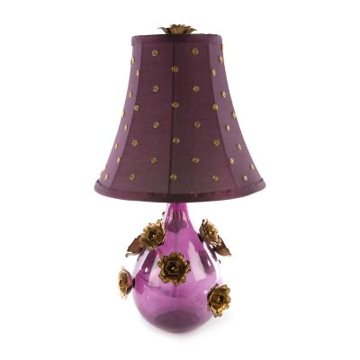 Amethyst Rose Lamp - Small