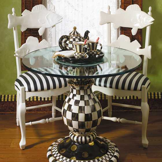 Courtly Check Pedestal Table Base image three