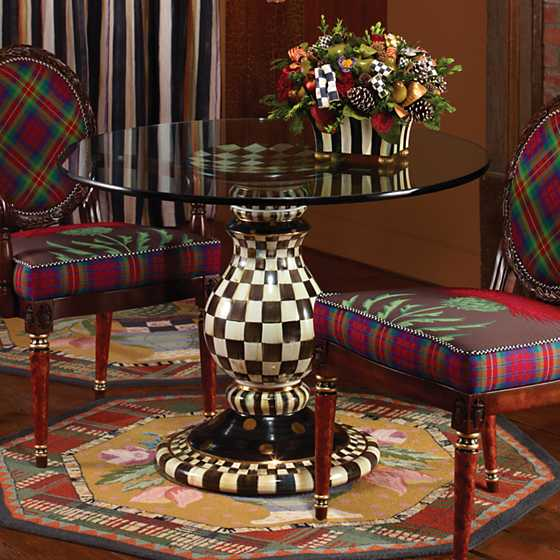Courtly Check Pedestal Table Base image four