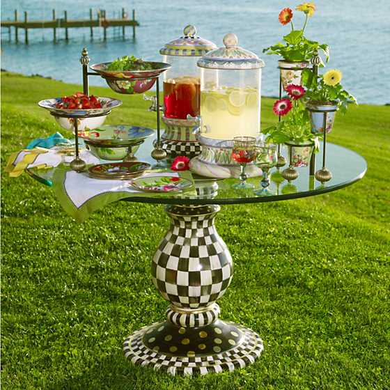 Courtly Check Pedestal Table Base image five
