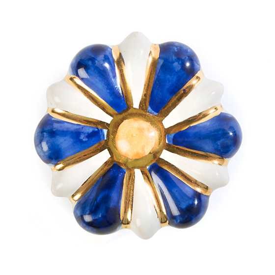Flower Power Knob - Blue & White image one