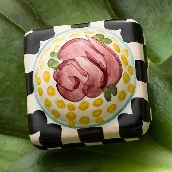 Petit Four Square Knob - Rose image two