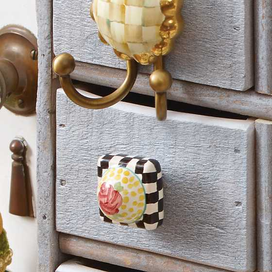 Petit Four Square Knob - Rose image six