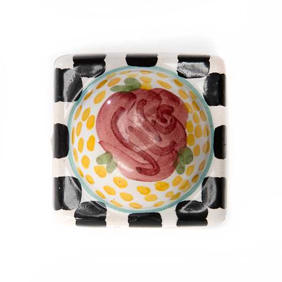 Petit Four Square Knob - Rose