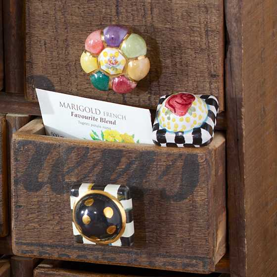 Petit Four Square Knob - Courtly Check image four