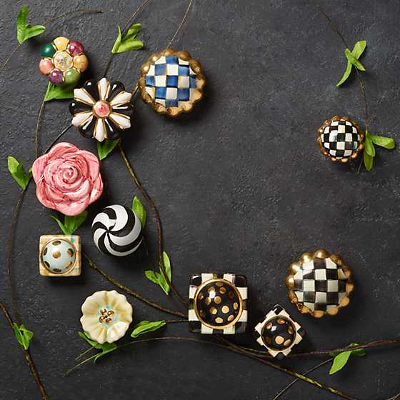 Petit Four Square Knob - Courtly Check image seven
