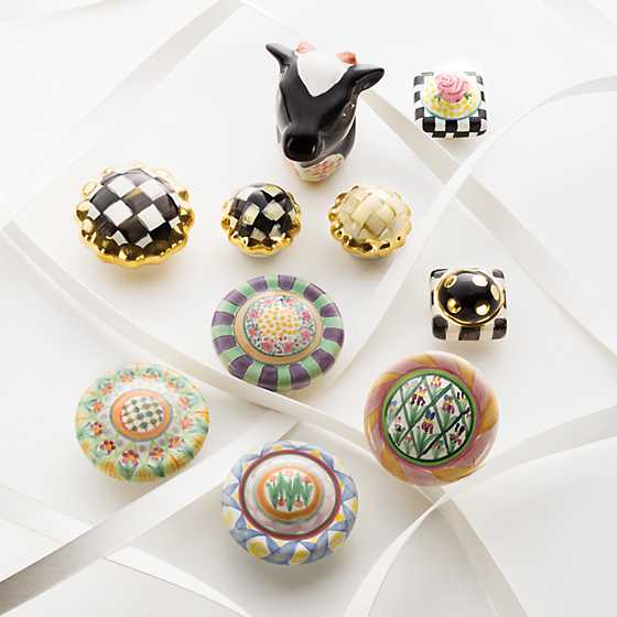 Petit Four Round Knob - Courtly Check image two
