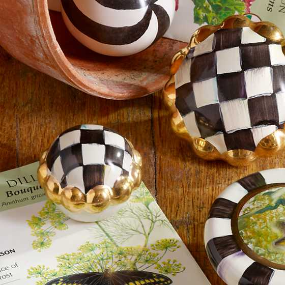 Petit Four Round Knob - Courtly Check image five