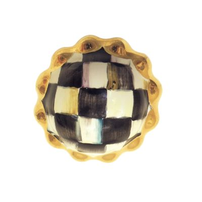 Petit Four Round Knob - Courtly Check