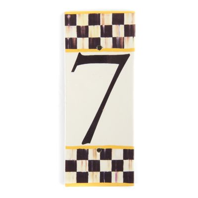 Courtly Check House Number - 7
