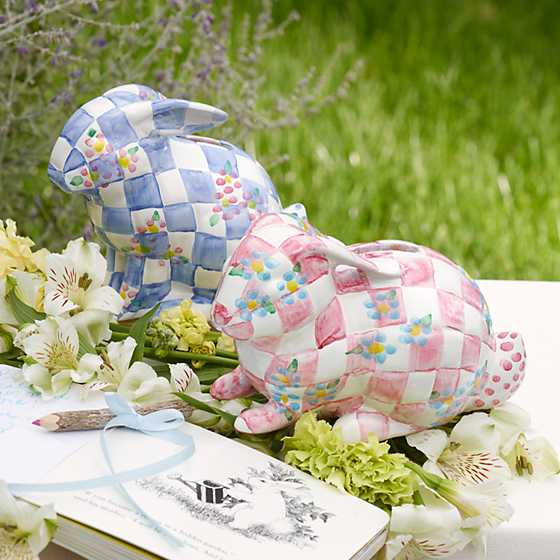Quilted Bunny Bank - Blue image two
