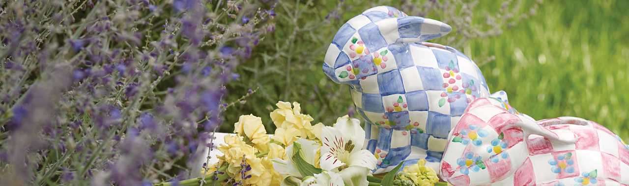 Quilted Bunny Bank - Blue Banner Image