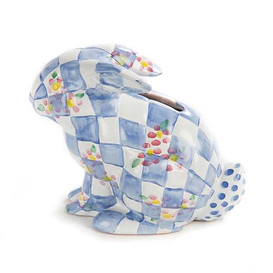 Quilted Bunny Bank - Blue