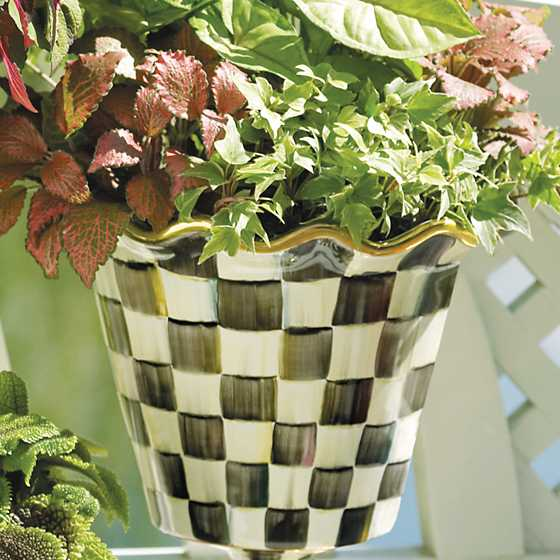 "8"" Courtly Check Flower Pot image two"