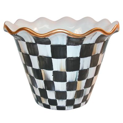 "8"" Courtly Check Flower Pot"