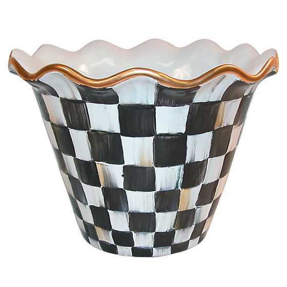 "8"" Courtly Check Flower Pot image one"