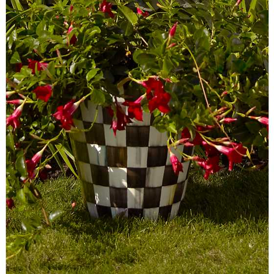Courtly Check Jumbo Flower Pot image three