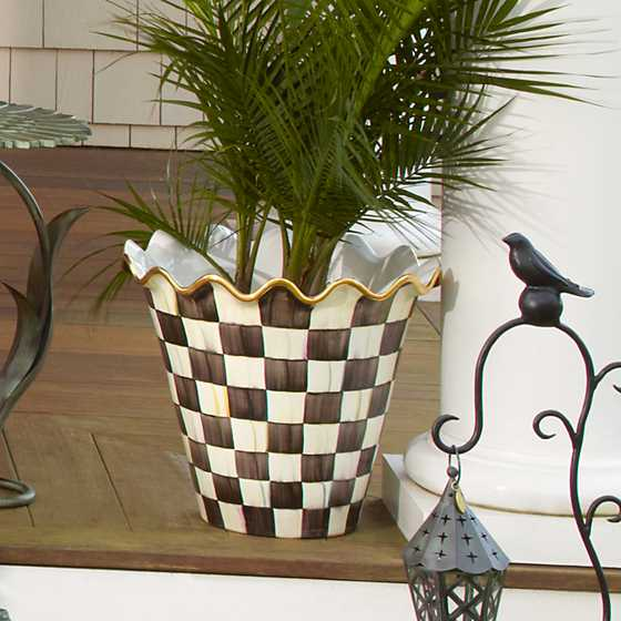 Courtly Check Jumbo Flower Pot image five