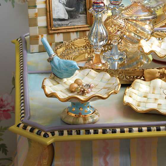 Parchment Check Ring Dish image two
