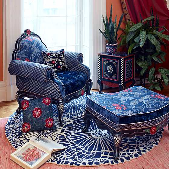 Bluetopia Ottoman image two