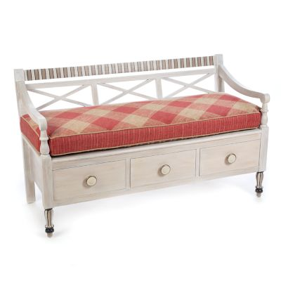 Carriage House Bench - Rhubarb
