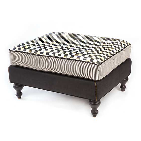 Underpinnings Studio Ottoman - Black image one