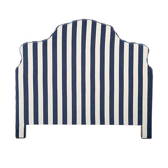 Marquee Headboard - Chenille Navy Stripe - Queen image two