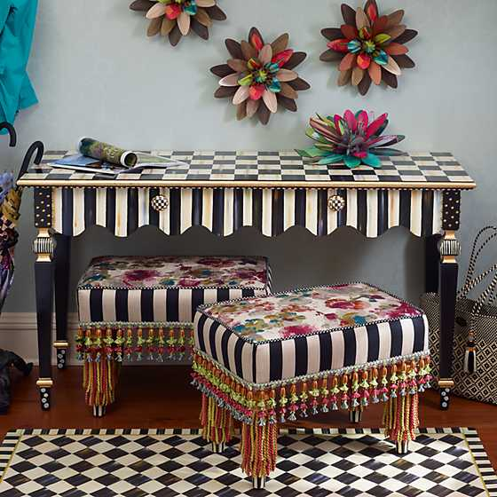 Courtly Stripe Console Table