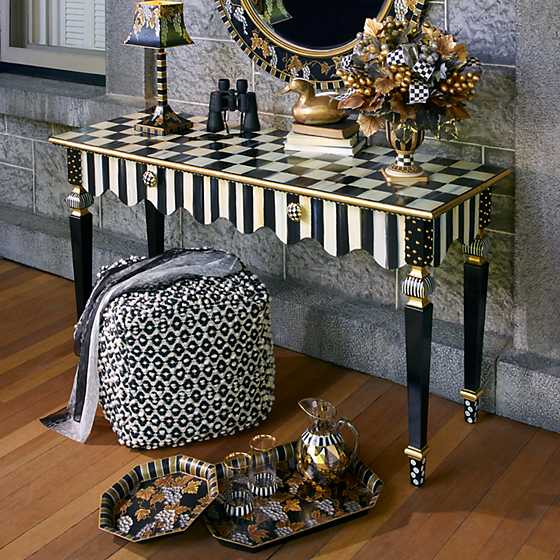 Courtly Stripe Console Table image six