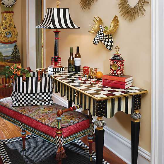 Courtly Stripe Console Table image seven