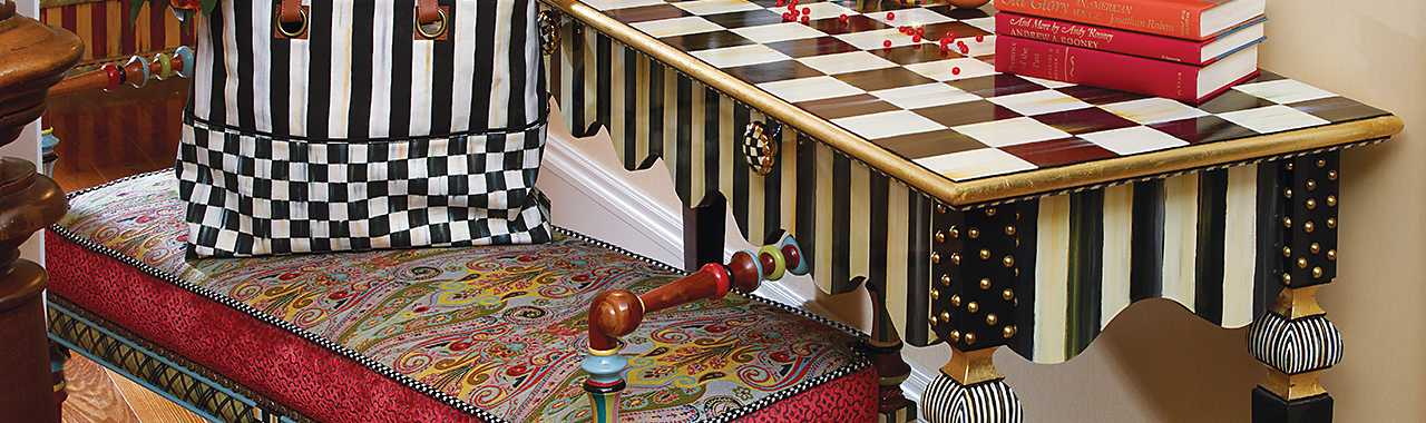 Courtly Stripe Console Table Banner Image