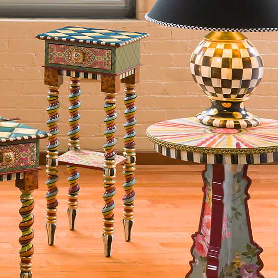 Barley Twist Table - Tall image two