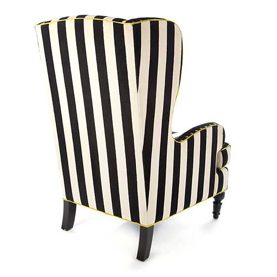 Marquee Wing Chair - Chenille Stripe image three