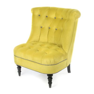 Farmhouse Accent Chair - Green Grape