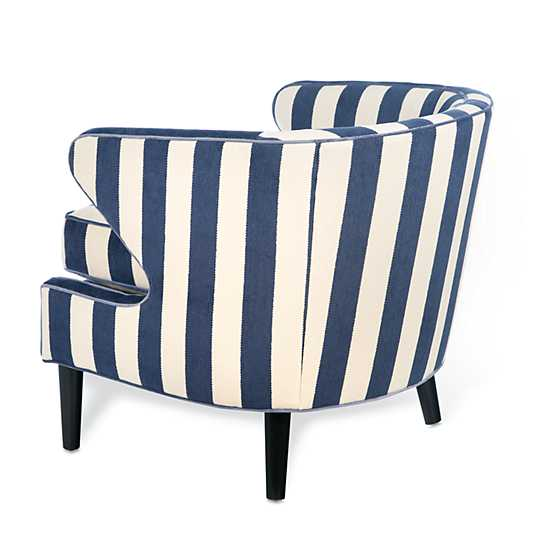 Marquee Accent Chair - Chenille Navy Stripe image two