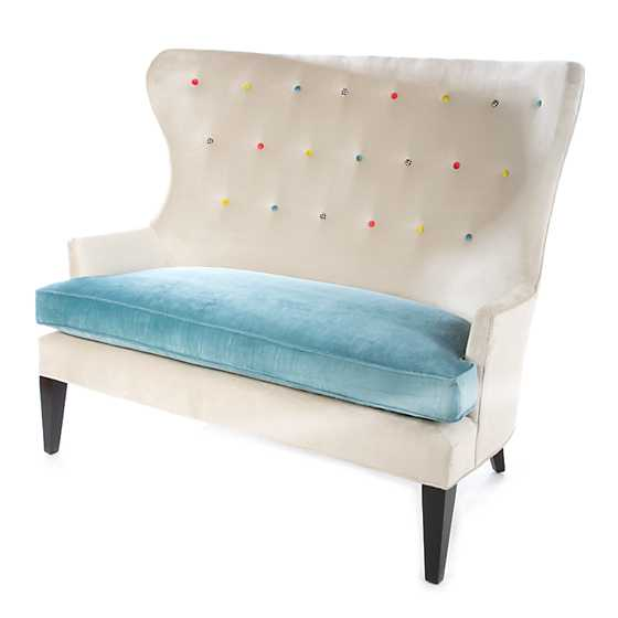 Cream at the Top Settee - Mint