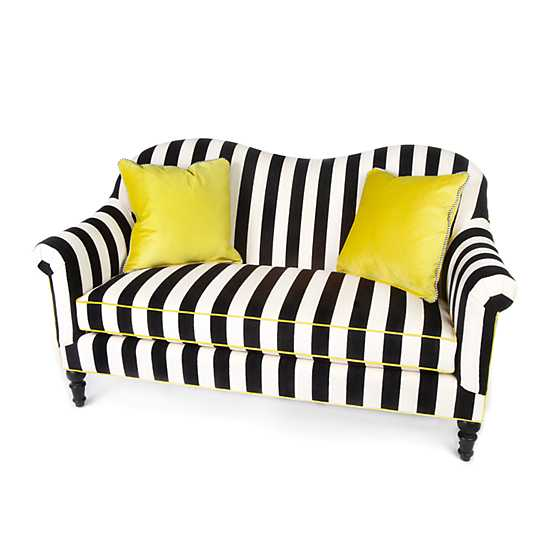 Marquee Loveseat - Chenille Black Stripe image one