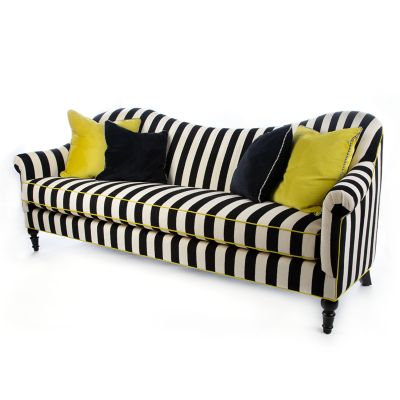 Image for Marquee Sofa - Chenille Black Stripe