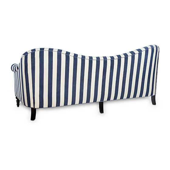 Marquee Sofa - Chenille Navy Stripe image two