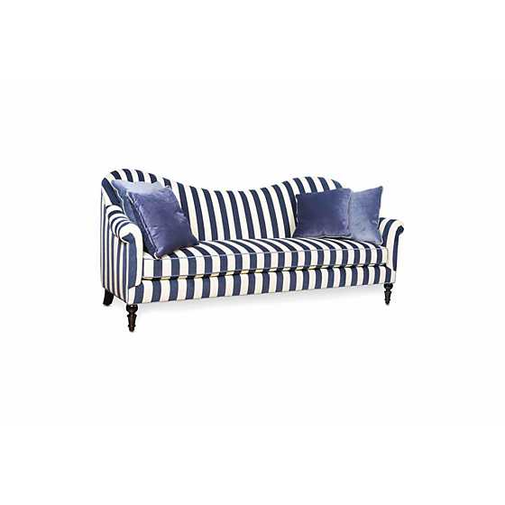 Marquee Sofa - Chenille Navy Stripe image one