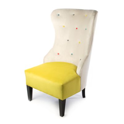 Cream at the Top Hostess Chair - Green Grape